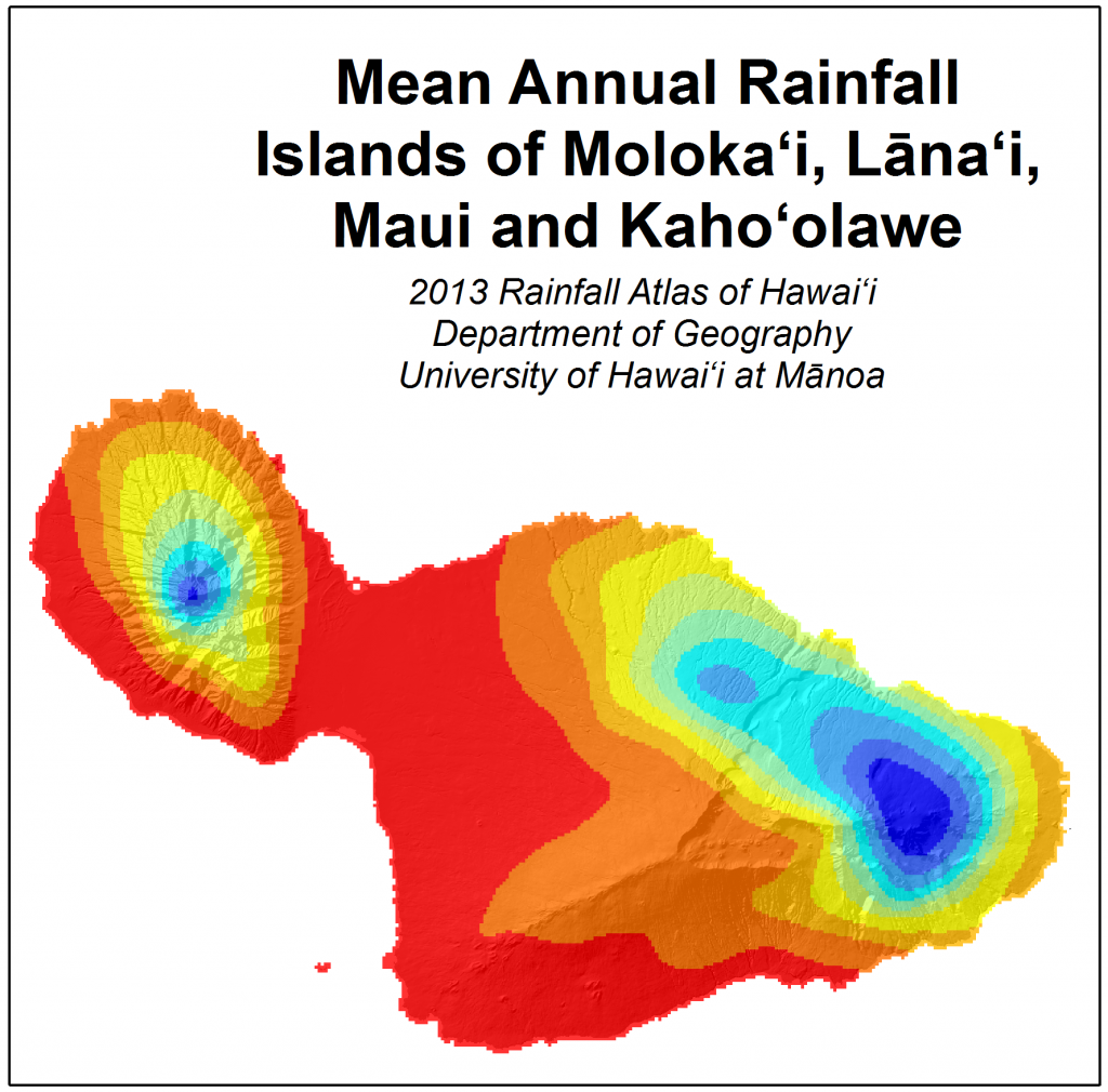 Weather & Maui Average Rainfall Map | Maui Guidebook
